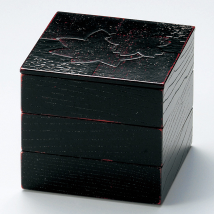 三段姫重 色紙春秋布張 曙 4.5寸 【送料無料】 木製