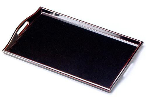 脇取盆 1尺6寸 溜 【送料無料】 木製 漆塗り トレー 京都 漆器の井助