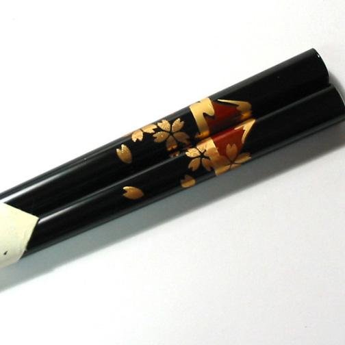 箸 富士桜 【メール便可】 木製 漆塗り
