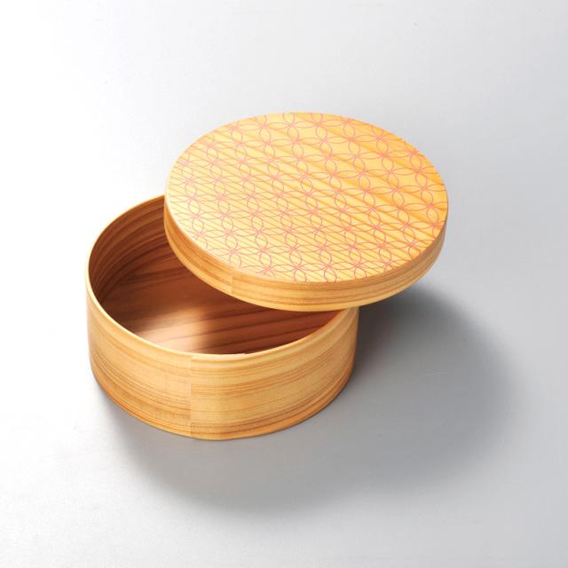 七宝 日本の弁当箱 丸 【送料無料】 木製