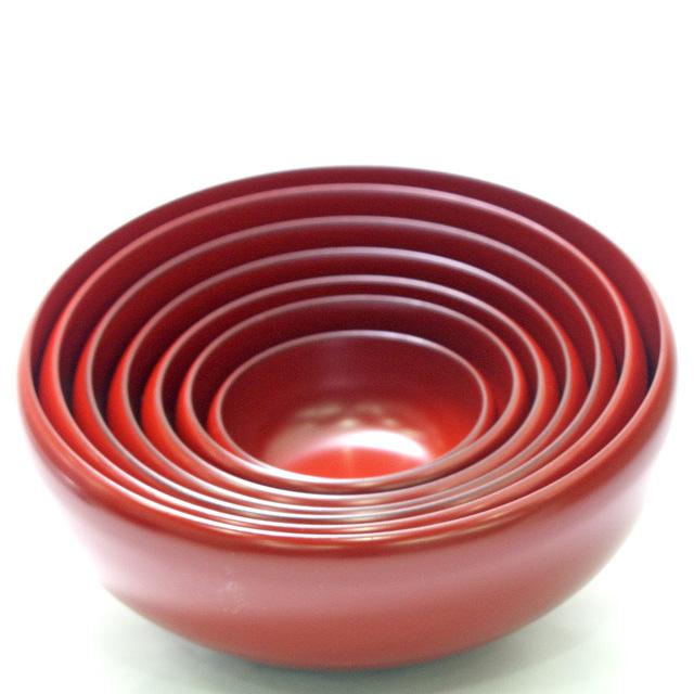 漆器の入れ子鉢・ボウルの大小セット