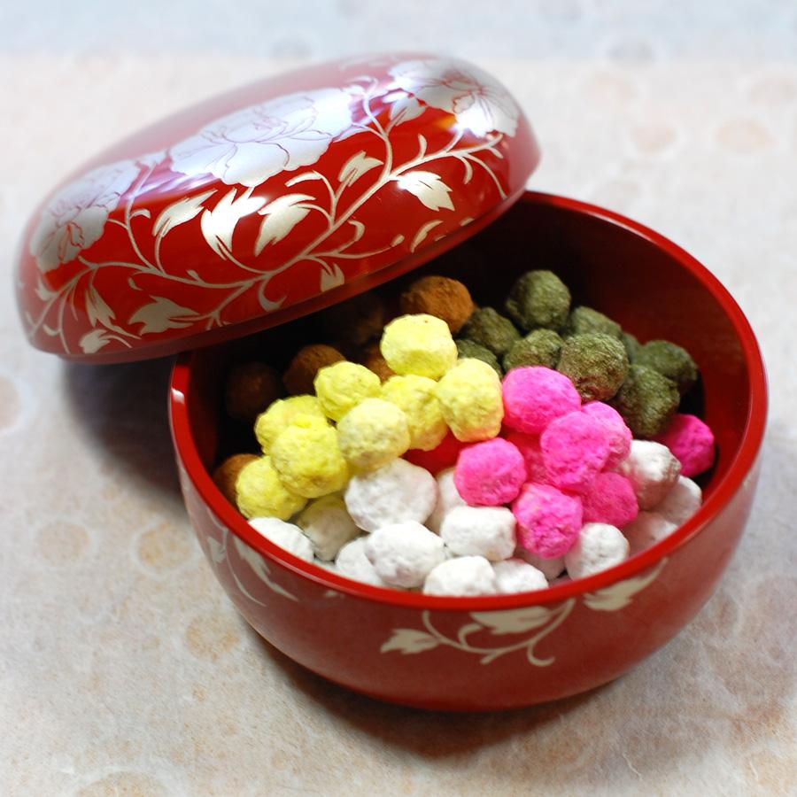 漆器の菓子器・蓋付きの鉢・ボンボニエール