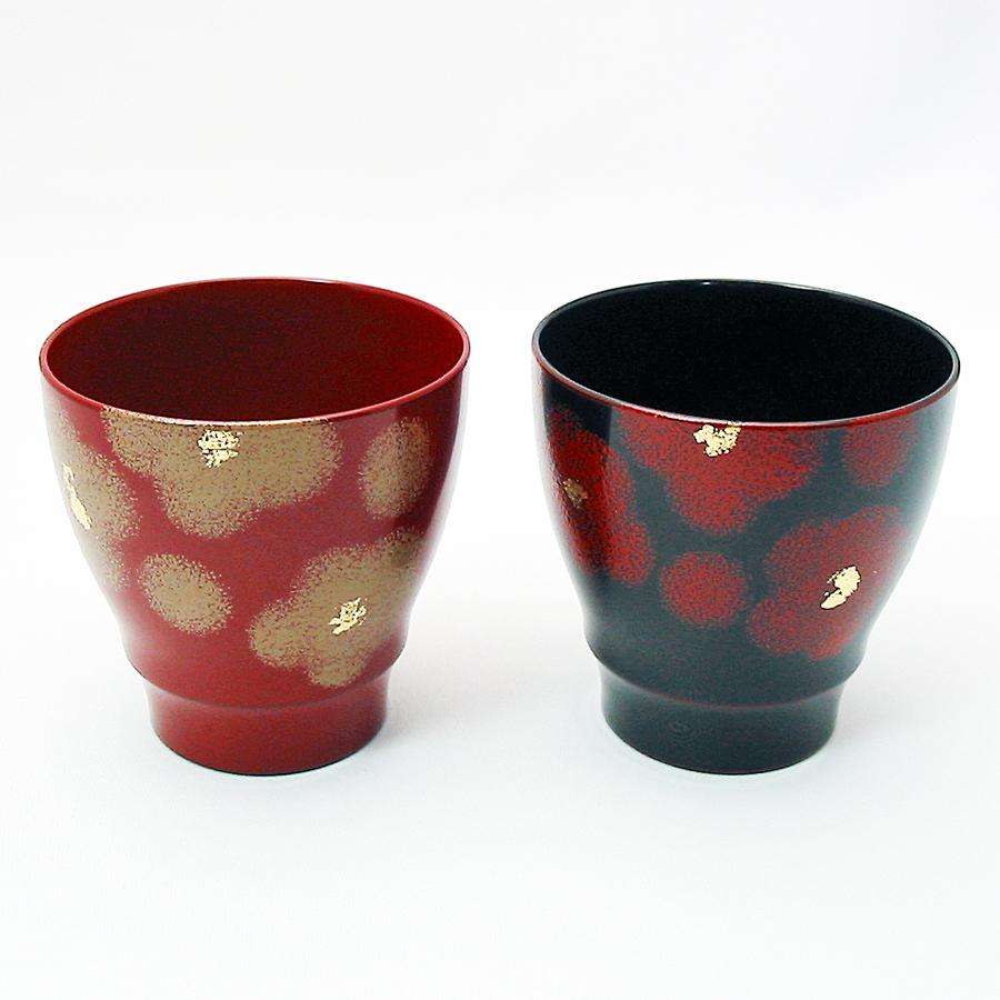 ペアカップ 紅白華 漆塗り 漆塗り 京都 漆器の井助