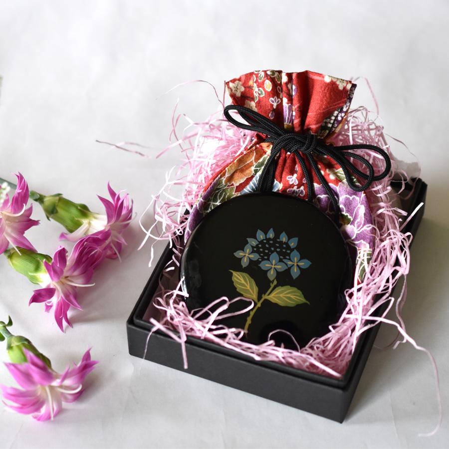 プチ手鏡 紫陽花