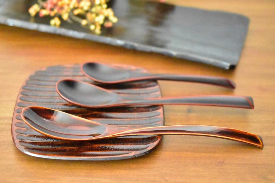 ディナースプーン 木製 漆塗り カトラリー 京都 漆器の井助