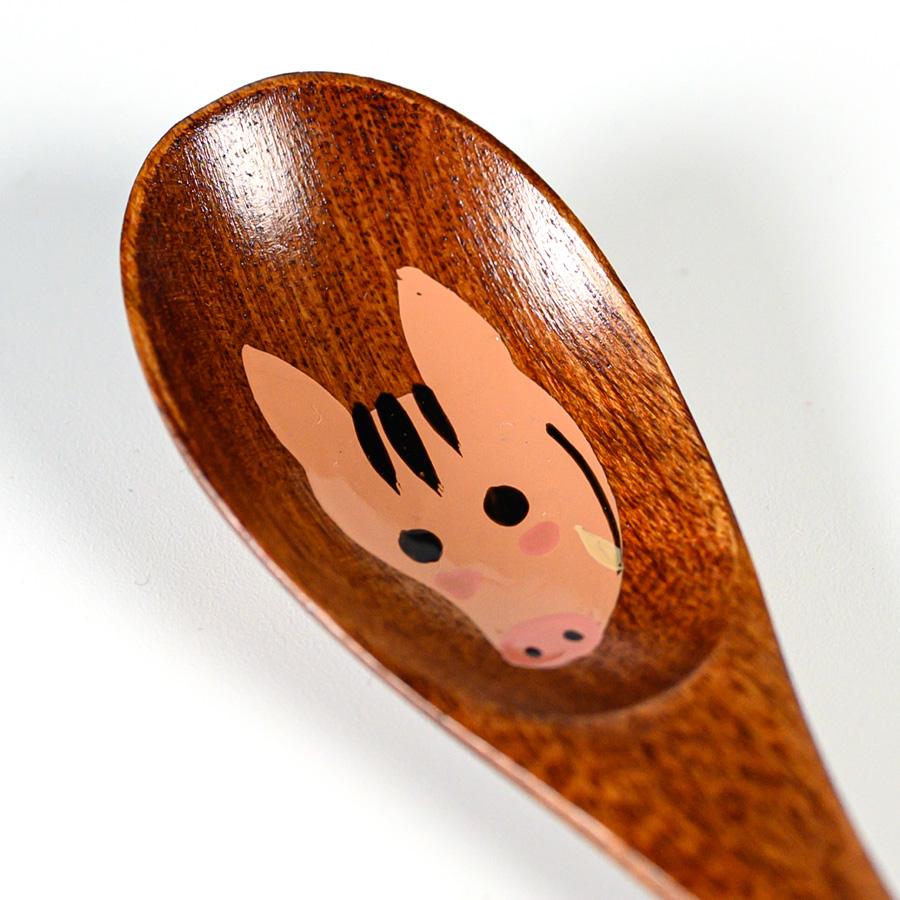干支スプーン 木製 漆塗り 十二支