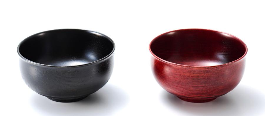 美筋ペア椀 木製 漆塗り 木のお椀・味噌汁椀