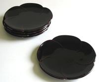 福梅銘々皿 5枚セット 京都 漆器の井助