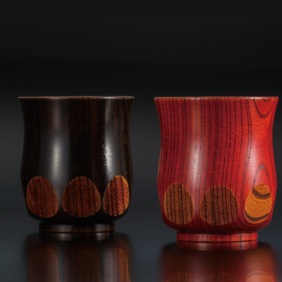 長寿祝い(喜寿・米寿など)におすすめの漆器 湯呑み 漆切子 木製 漆塗り 京都 漆器の井助