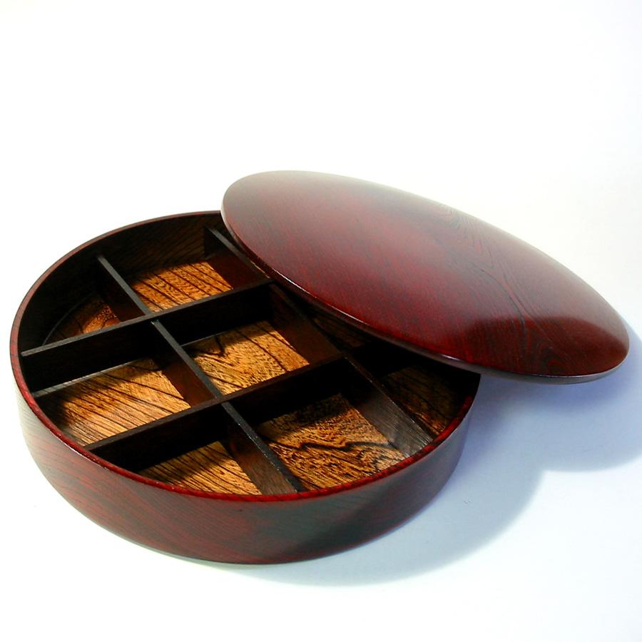 オードブル一段重 ひびき 【送料無料】 木製 漆塗りお重箱  京都 漆器の井助
