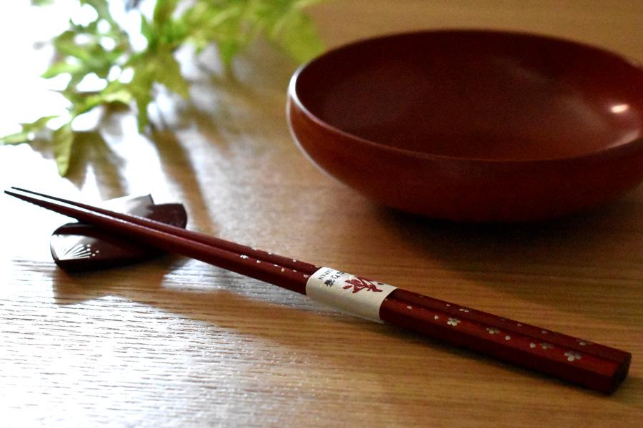 箸・箸置きセット 桜