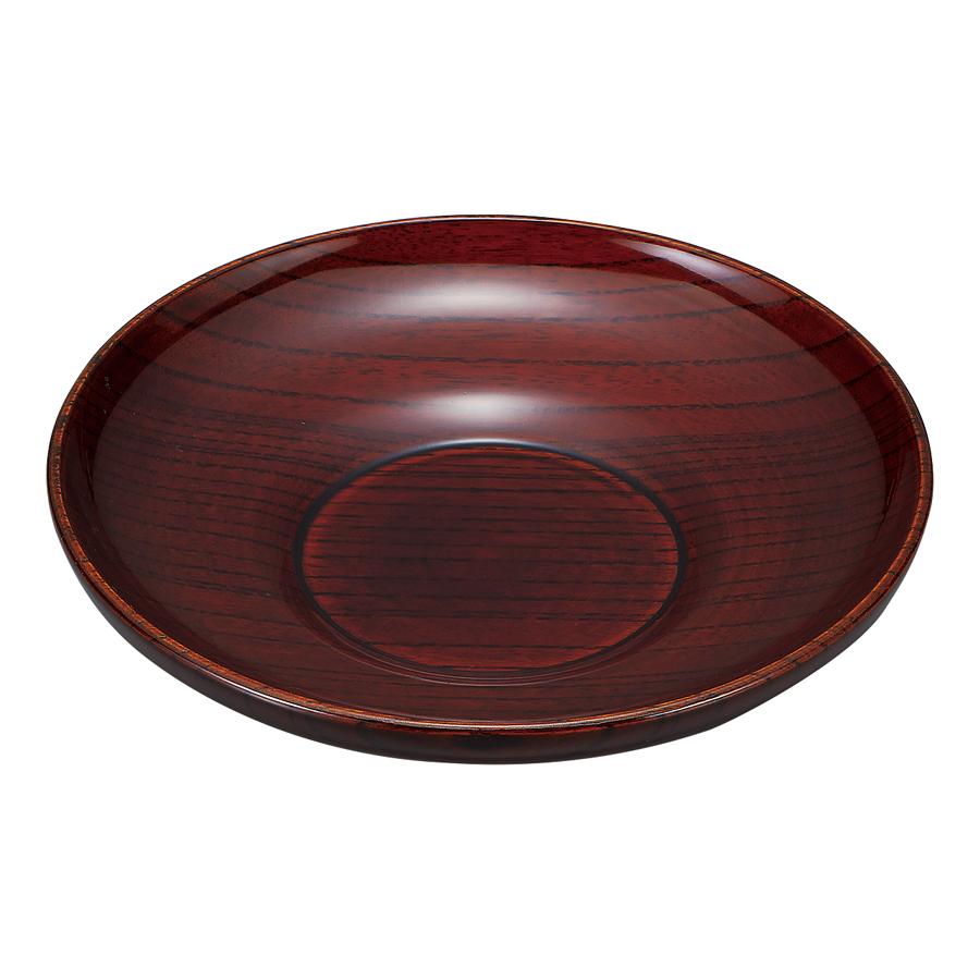 茶托 4.0 ダルマ型 木地呂 5枚セット 【送料無料】 木製 漆塗り
