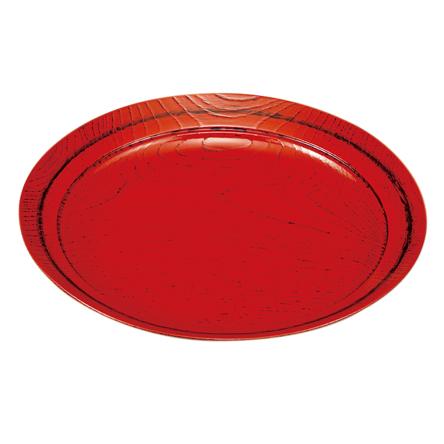 味彩皿 8.0 根来(スノコ付) 木製 漆塗り