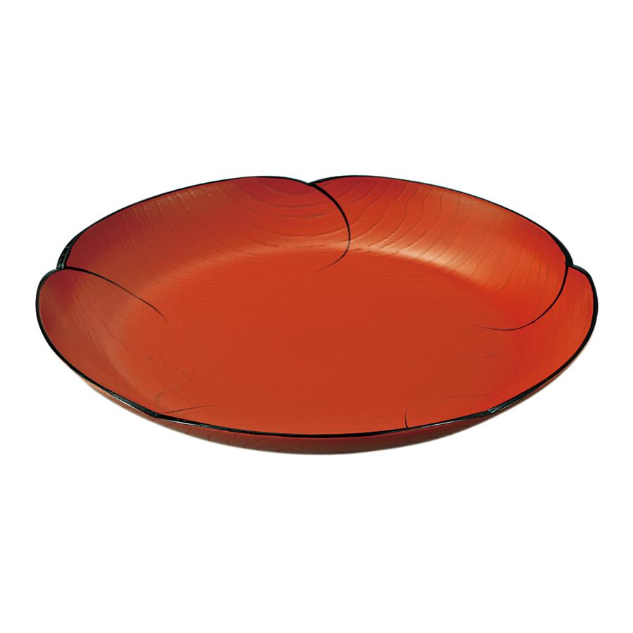 福梅鉢 8.0 目ハジキ 洗朱 木製 漆塗り