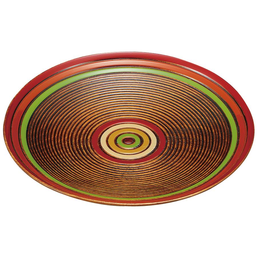 銘々皿 5.0 独楽模様 5枚セット 【送料無料】 木製 漆塗り