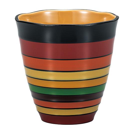 フリーカップ 独楽模様 黒