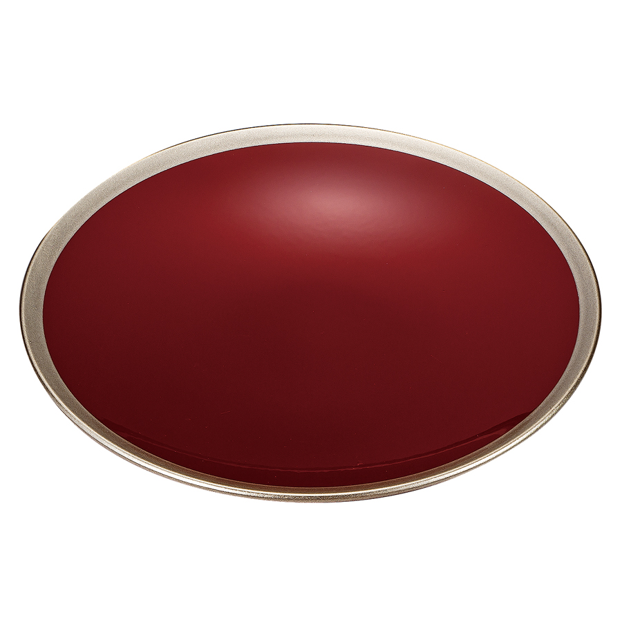 皿 5.0 銀彩 朱