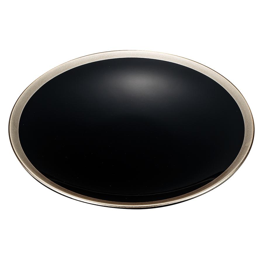 皿 5.0 銀彩 黒