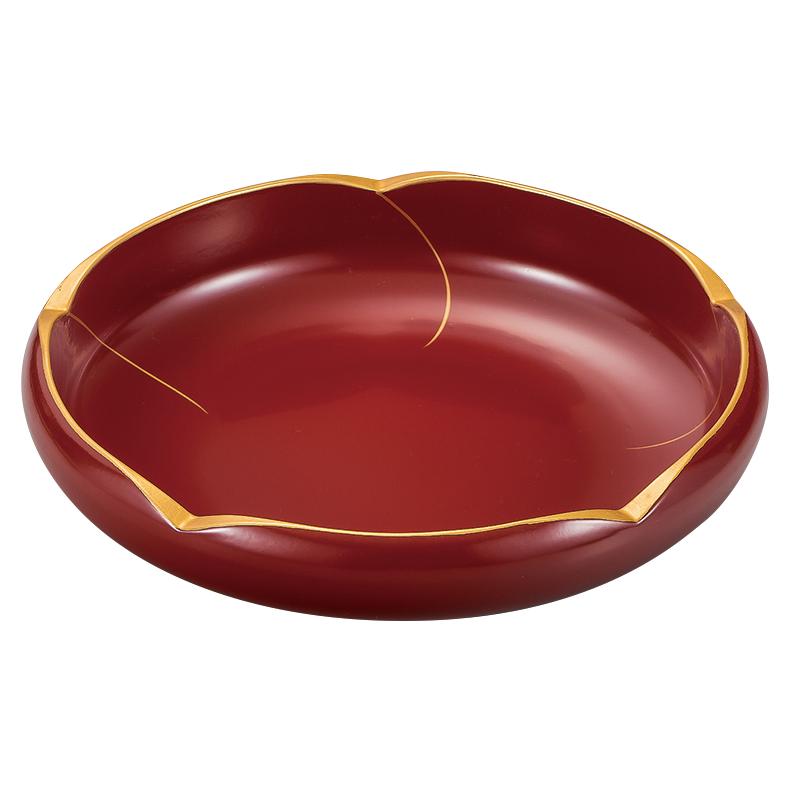 梅鉢 7.5 花ライン 本朱 漆塗り