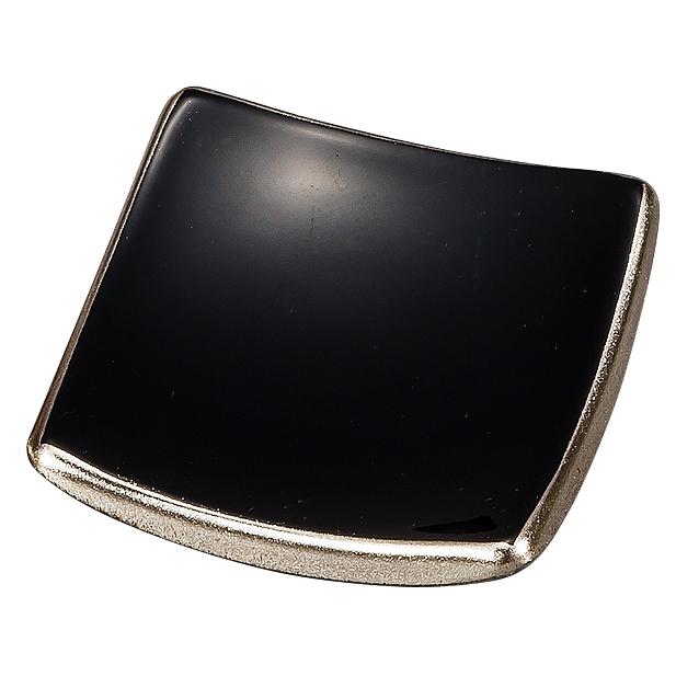 箸置き 銀彩 黒