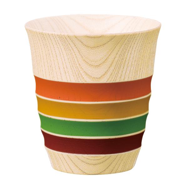 フリーカップ しっとり独楽ライン 木製