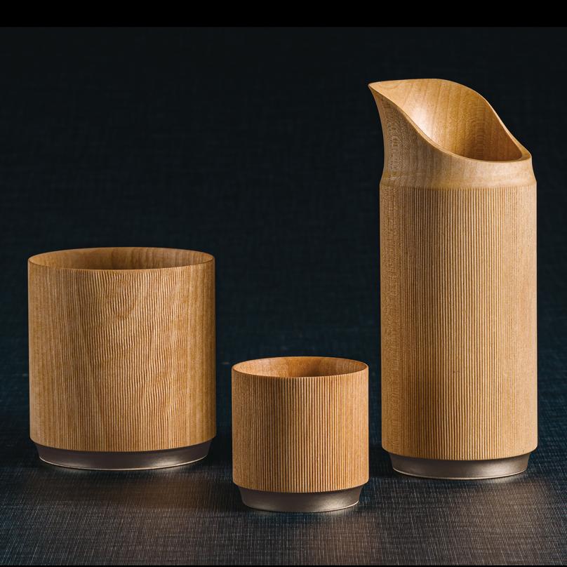 ロックカップ 樹輪 ナチュラル 木製