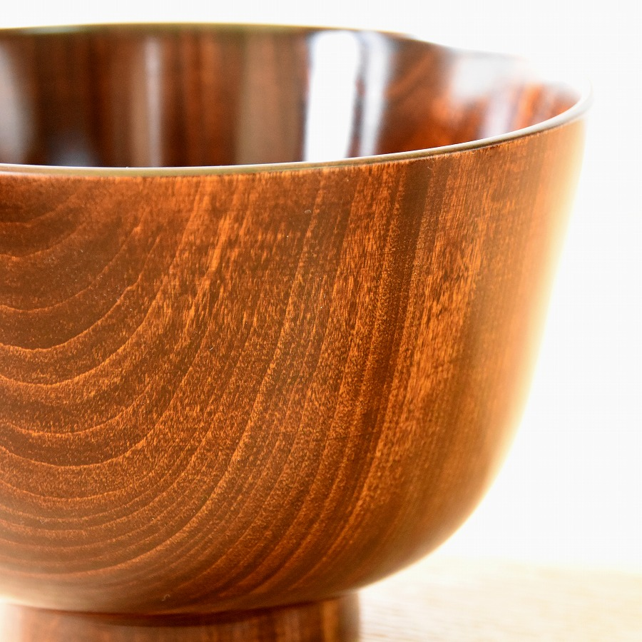 深椀 栃 すり十遍 【送料無料】 木製 漆塗り 大椀・麺鉢・丼鉢